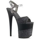 Gray Glitter 20 cm Pleaser FLAMINGO-809-2G High Heels Platform