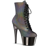 Gray chrome 18 cm ADORE-1020HFN Exotic pole dance ankle boots