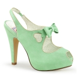 Green 11,5 cm retro vintage BETTIE-03 Pinup pumps with hidden platform