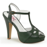 Green 11,5 cm retro vintage BETTIE-23 High Heeled Evening Sandals
