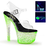 Green Neon 18 cm Pleaser CRYSTALIZE-308PS Platform High Heels