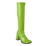Green Patent 7,5 cm Funtasma GOGO-300 Women Knee Boots