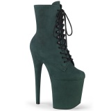 Green faux suede 20 cm FLAMINGO-1020FS2 Pole dancing ankle boots