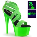 Green neon 18 cm Pleaser ADORE-769UV Pole dancing high heels shoes