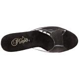Grijs glimsteen 20 cm FLAMINGO-801SRS dames slippers met hak
