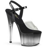 Grijs plateau 18 cm ADORE-708T-2 transparante hakken - pole dance schoenen