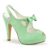 Groen 11,5 cm BETTIE-03 Pinup pumps schoenen met verborgen plateauzool