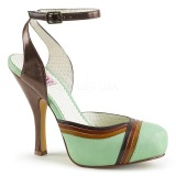Groen 11,5 cm CUTIEPIE-01 Pinup sandalen met verborgen plateauzool