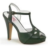 Groen 11,5 cm retro vintage BETTIE-23 Hoge Avond Sandalen met Hak