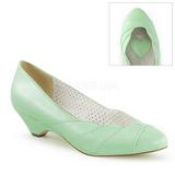 Groen 4 cm LULU-05 Pinup pumps schoenen met lage hakken