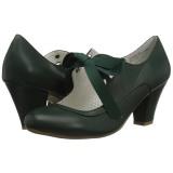 Groen 6,5 cm WIGGLE-32 Pinup pumps schoenen met blokhak