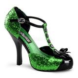 Groen Glitter 11,5 cm FESTIVE-10G Hoge Avond Pumps Schoenen met Hak