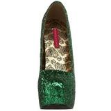 Groen Glitter 14,5 cm BORDELLO TEEZE-06G Plateau Pumps Hoge Hak