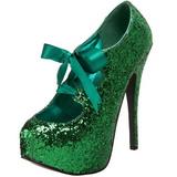 Groen Glitter 14,5 cm Burlesque TEEZE-10G Platform Pumps Schoenen