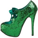 Groen Glitter 14,5 cm TEEZE-10G Platform Pumps Schoenen