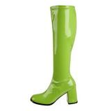 Groen Lak 8,5 cm GOGO-300 Dameslaarzen met hak voor Heren