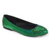 Groen MERMAID-21 ballerinas platte damesschoenen