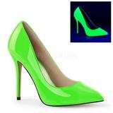 Groen Neon 13 cm AMUSE-20 Pumps Schoenen met Naaldhakken