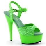 Groen Neon 15 cm Pleaser DELIGHT-609UVG Plateau Hoge Hakken