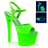 Groen Neon 18 cm Pleaser SKY-309UV Plateau Hoge Hakken