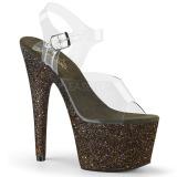 Groen glitter 18 cm Pleaser ADORE-708HMG paaldans schoenen met hoge hakken