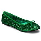 Groen glitter STAR-16G dames ballerinas schoenen