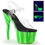 Groen neon 18 cm Pleaser ADORE-708UVP paaldans schoenen met hoge hakken