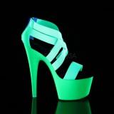 Groen neon 18 cm Pleaser ADORE-769UV paaldans schoenen met hoge hakken