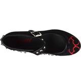 Hart zeildoek 8 cm CLICK-02-1 lolita gothic schoenen dikke zolen