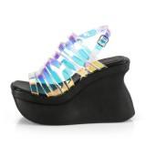 Hologram 11,5 cm Demonia PACE-33 lolita sandalen met plateau