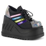 Hologram 12,5 cm STOMP-08 lolita ankle boots wedge platform