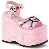 Hologram 15 cm Demonia WAVE-09 lolita platform wedge sandals