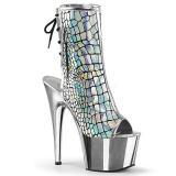 Hologram 18 cm ADORE-1018HG womens platform soled ankle boots
