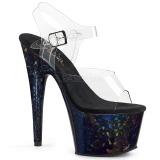 Hologram 18 cm Pleaser ADORE-708HSP paaldans schoenen met hoge hakken
