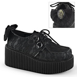 Kant stof CREEPER-212 Plateau Creepers Schoenen Dames