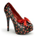 Kers Zwart 14,5 cm TEEZE-12-6 damesschoenen met hoge hak