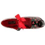Kers Zwart 14,5 cm TEEZE-25-3 damesschoenen met hoge hak