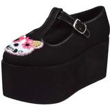 Kitty zeildoek 8 cm CLICK-04-1 lolita gothic schoenen dikke zolen
