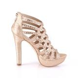 Koperen 11,5 cm Pleaser SELENE-24 Sandalen met hoge hakken
