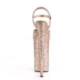 Koperen 25,5 cm BEYOND-010LG glitter plateau hoge hakken