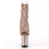 Koperen glitter 20 cm FLAMINGO-1018G paaldans enkellaarsjes met hoge hakken
