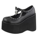 Kunstleer 11,5 cm KERA-14 lolita gothic schoenen met plateau