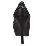 Kunstleer 13,5 cm PIXIE-16 pumps schoenen open teen