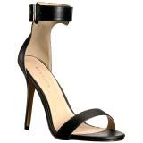 Kunstleer 13 cm Pleaser AMUSE-10 sandalen met naaldhak