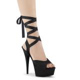 Kunstleer 15 cm DELIGHT-634 pleaser sandalen met plateau