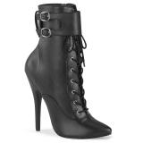 Kunstleer 15 cm DOMINA-1023 stiletto high heels enkellaarzen