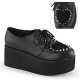 Kunstleer 7 cm GRIP-02 lolita gothic schoenen met dikke zolen