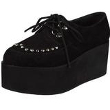 Kunstleer 7 cm GRIP-03 lolita gothic schoenen met dikke zolen