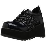 Kunstleer 8 cm SCENE-31 lolita gothic schoenen met plateau