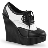 Kunstleer CREEPER-307 wedge creepers schoenen sleehakken